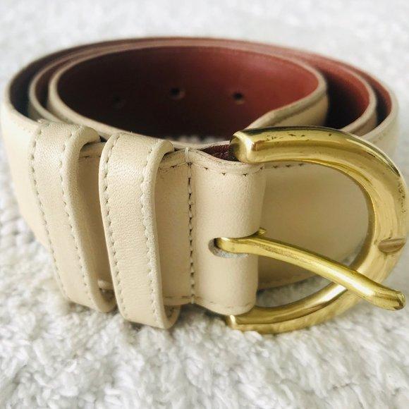 Coach Accessories - COACH Vintage 8500 Leather Belt w Brass Buckle
